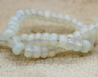 Opalite Rondelle Faceted Gemstone Beads