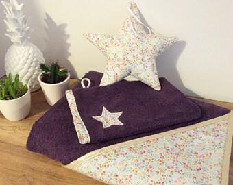 Bath and washcloth, Star, liberty, bath box