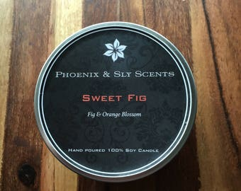 Sweet Fig (Fig & Orange Blossom) 100% Soy Hand Poured Candle