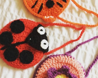 Crochet childs purse
