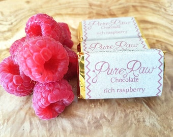 Pure Raw Chocolate - Rich Raspberry (pack of 10)