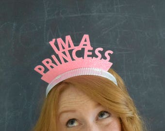 Princess Glitter Party Crowns