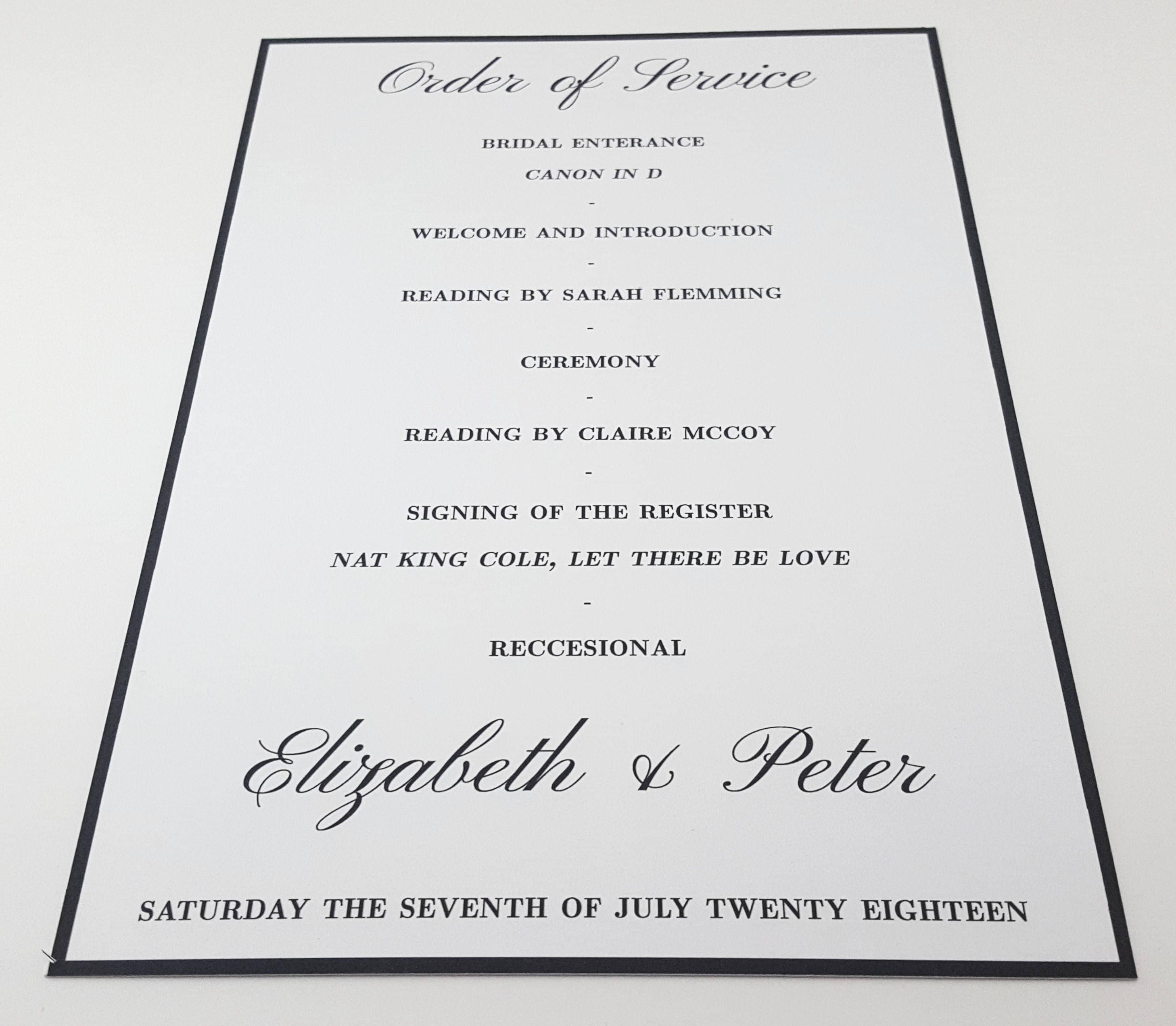 Traditional Bespoke Wedding Invitation & Stationery SAMPLE, FREE ...