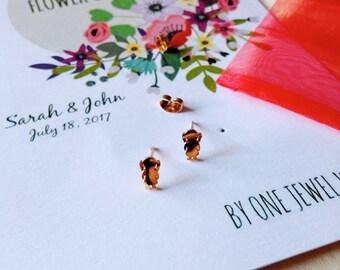 Flower Girl Earrings • Will you be our Flower Girl • Gold Girl Earrings