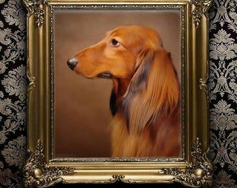 Hand Painted, Pet Portrait Custom, Pet Lover Gift, Dog Painting, Pet Petting, Custom Dog Portrait, From Photograph, Memorial Pet Portrait