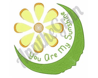 Sunshine Flower - Machine Embroidery Design