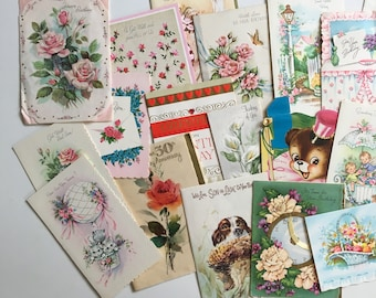 Assortment of Vintage Greeting Cards