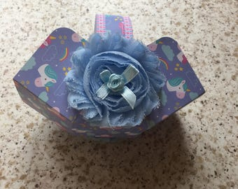 Hand made paper treat basket