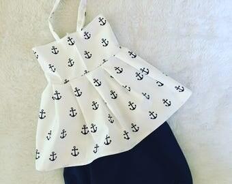 Nautical , Dress set, set, baby set boutique, nb, 3,6,9,12,24 months, 2,3t