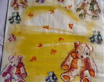 Teddy bear paper towel