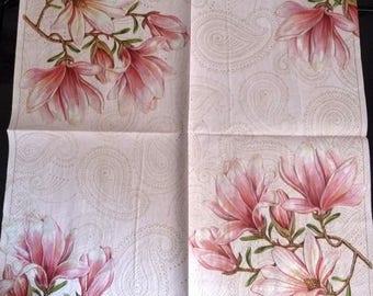 Magnolias napkin