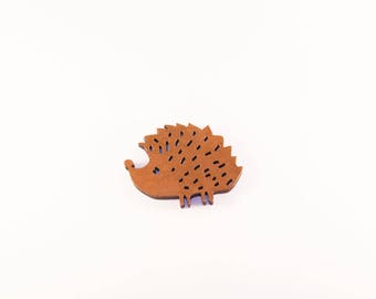 Mother of Pearl Brown fall color Hedgehog brooch