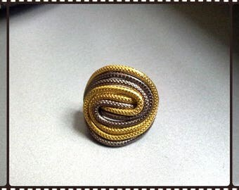Aluminum wire ring gold chocolate