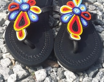 Abelfashion, Handmade sandals, African sandals, Colorful sandals, Ola_shoe