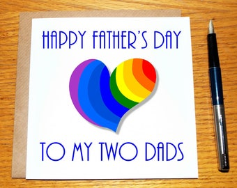 Gay Fathers Day Card / Unique / Original / Gay / Greeting Card /