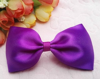 4 inch Handmade Fabric Bow Hairbows For Girls Babies Toddlers