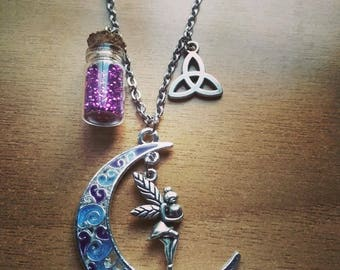 Moon fairy /handmade /necklace