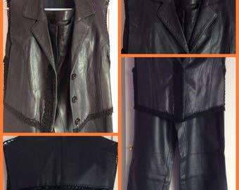 Soldes30%!   CODE: SOLDESCNS. Pretty costume Cook natural black color women T44, crochet decor.