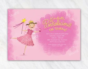 Pinkalicious Invitation for Birthday Party - Printable Digital File