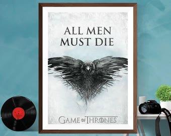 Game of Thrones Crow TV Series , TV Show Print Poster  Print Poster Canvas/Matt/Silk A4/A3/A2