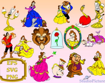 Beauty and the beast SVG, princess Disney, Beauty and the beast clipart, Belle Princess Svg, Disney princess, Cartoons clipart, disney svg