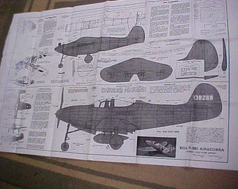 Bell P-39 Airacobra Model Airplane Plan 42 Inch Wing Span