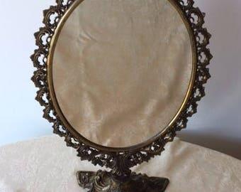 Vintage Victorian Style Filigree Decorative Standup Mirror