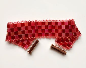 "Bracelet ""Red Carré"""