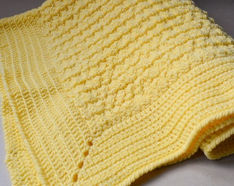 Yellow Bubble Baby Blanket