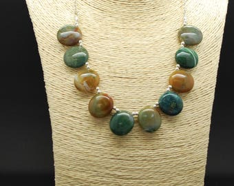 Natural Moss Agate Necklace
