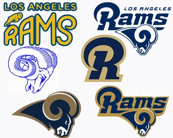 Los Angeles Rams Svg Files, Football Clipart, La Rams, Svg Cameo, Rams Football, Cricut Files, Football Svg Designs, Screen Printing, SVG-35