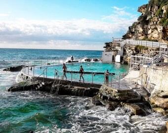 ocean print / art prints / wall art prints / blue / beach wall art / beach photography / ocean baths / sea print / wall picture / home decor