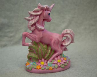 Hand-Painted Ceramic Unicorn with Flowers