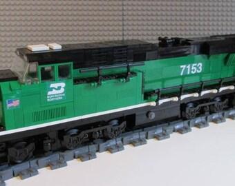 Custom Lego Train Burlington Northern ES44ac