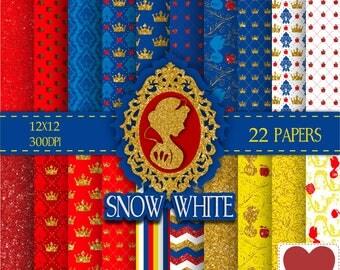 Disney Snow White Digital Paper Kit Digital Branca de Neve
