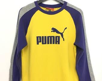 On Sale PUMA Sweatshirt Big Logo Block Color Longsleeve size 160