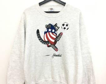On Sale Vintage BKLIBAN Crazy Shirt Sweatshirt Pullover Hawaii Small Size on tag