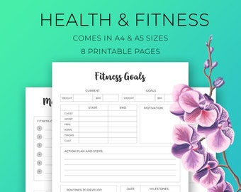 Motivational Health & Fitness Printables INSTANT DOWNLOAD