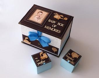 Baby box of memories, Baby Shower Gift, Baby Keepsake Box, Baby Boy Keepsake, Memory Box, New Baby Box, Personalised Memory Box