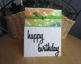 Birthday card, happy birthday card