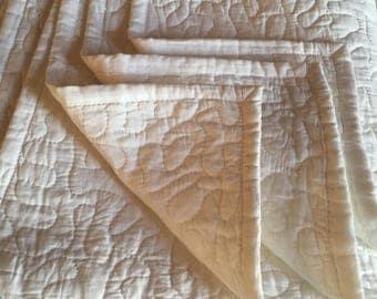 Cotton Machine Stitched Blanket/Throw