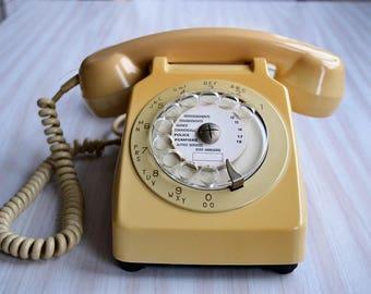Phone Socotel S63 dial, 1977, France vintage