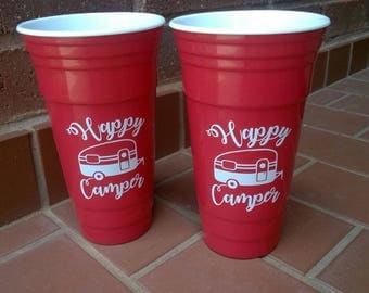 32 oz Red Solo Reusable Cup set (2)