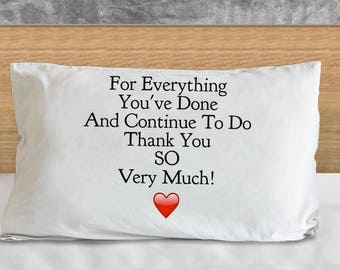"""Beautiful Thank You Gift - Unique Ideas """"For All You've Done and Continue To Do Thank You So Very Much!"""" Super Comfortable MICROFIBER!"""