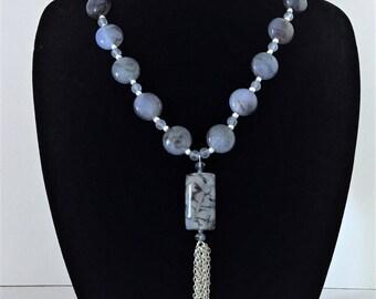 Blue Swirls Necklace