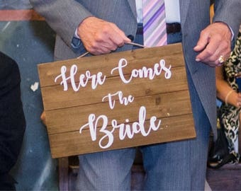 Here comes the bride sign | ring bearer sign