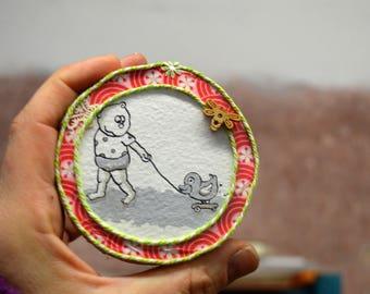 Kinderzimmer dekoration*Wally macht was Kinder machen*Wanddeko*Gemälde Kind*bild am wand