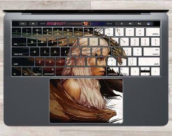MacBook Decal Game Of Thrones MacBook Skin Daenerys MacBook Keyboard Sticker Air Pro Targaryen Logo Laptop Skin Dragon Keys Trackpad FSM|900