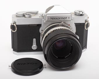 Nikkormat FT 35mm SLR with a 55mm F 3.5 Macro Lens