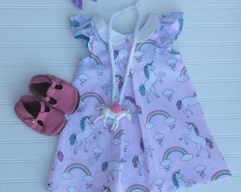Unicorn Collared Dress and top